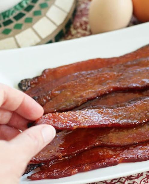 Perfectly Sweet and Spicy Glazed Bacon - Try to Eat Just One | artfuldishes.com