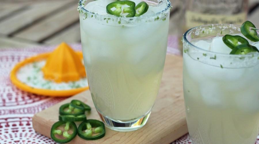 The Ultimate Jalapeno Margarita with Jalapeno Tequila, Jalapeno Simple Syrup, Fresh Jalapenos and Lime Zest Salt Rim | www.artfuldishes.com