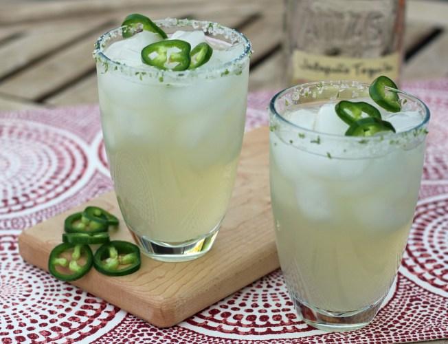 The Ultimate Jalapeno Margarita with Jalapeno Tequila, Jalapeno Simple Syrup and Fresh Jalapenos | www.artfuldishes.com