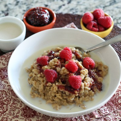 Peanut Butter and Jam Oatmeal