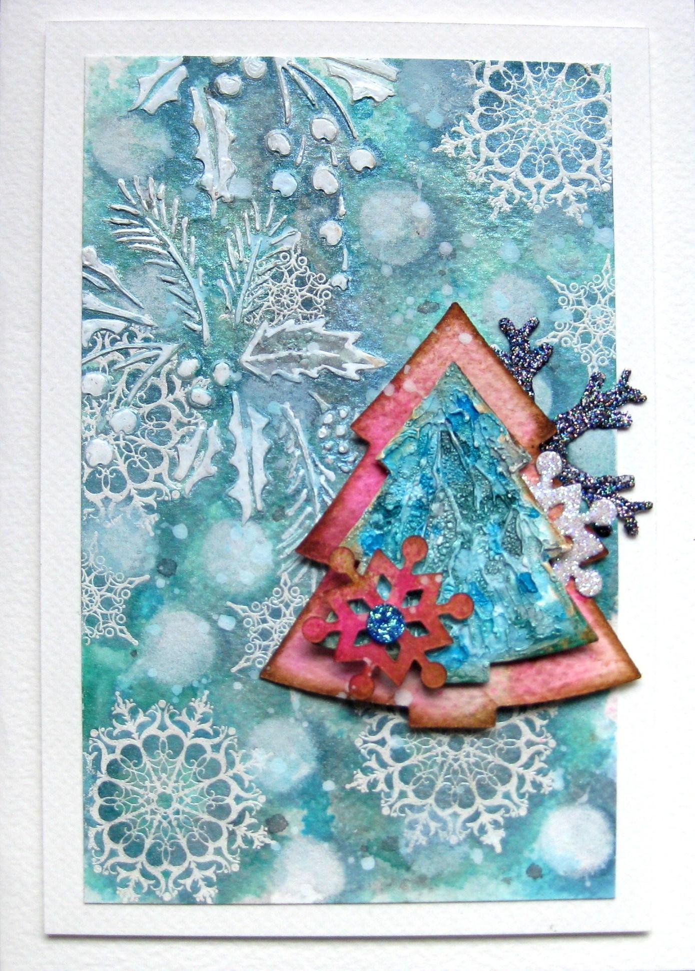 Mixed Media Christmas Cards
