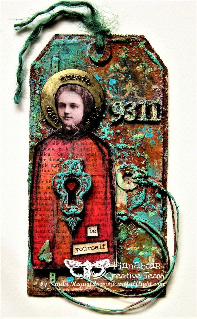 The Designers' Faves Challenge - Teal and Red Vintage Tag