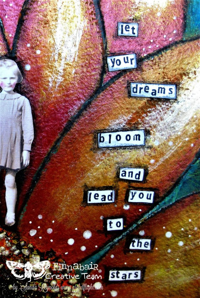 """""""Let your dreams bloom…"""" – Art journal page for Finnabair CT"""