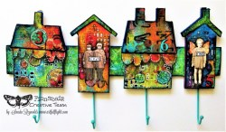 """Home is not a place… it's a feeling"" – Altered key hanger for Finnabair CT"
