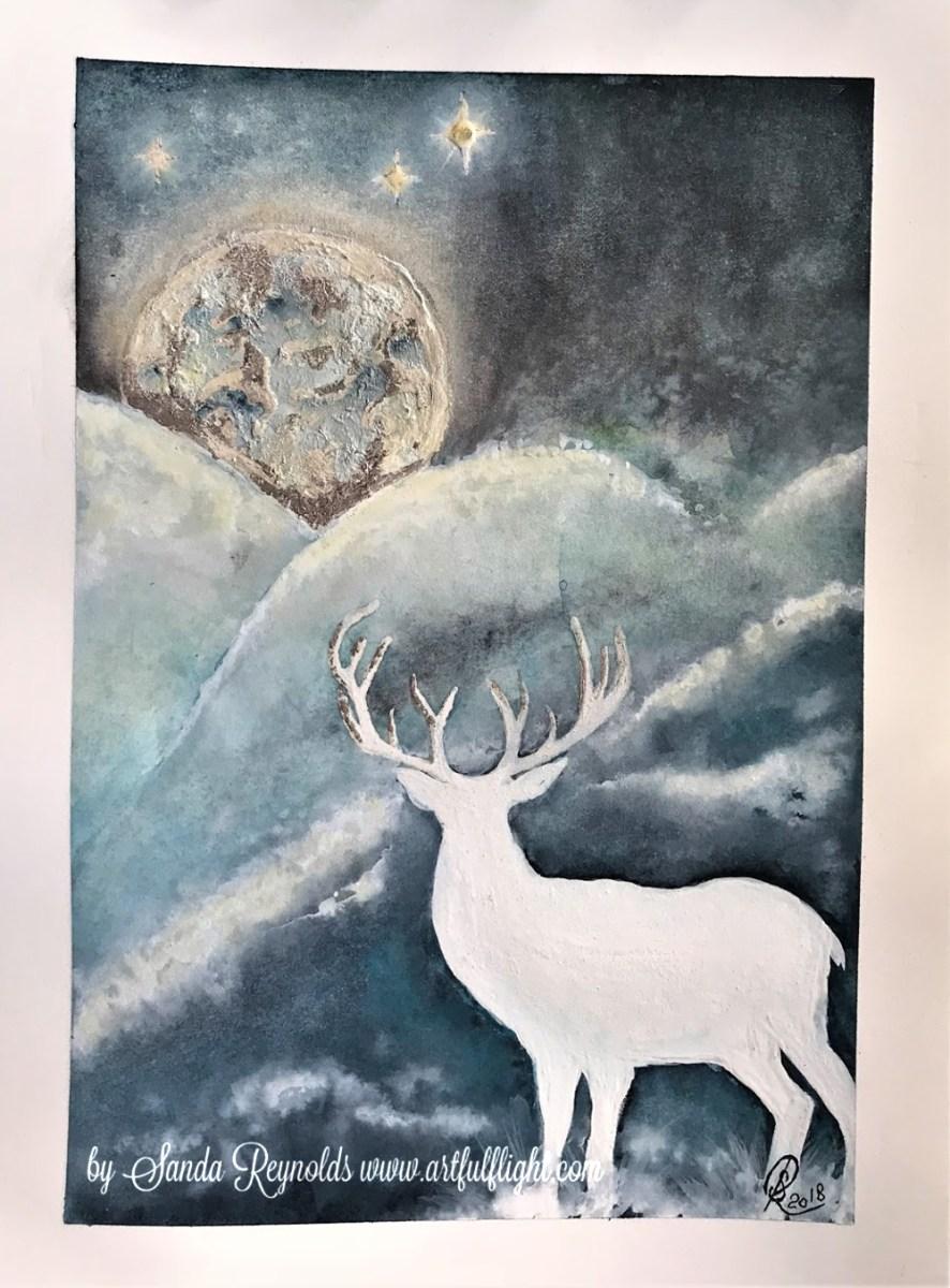"Watercolour Play 4 ""Moongazing"""