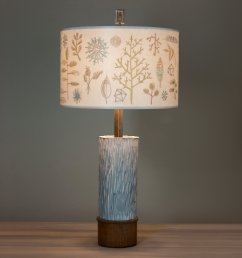 ceramic and wood table lamp with large drum shade in field chart [ 2400 x 2400 Pixel ]