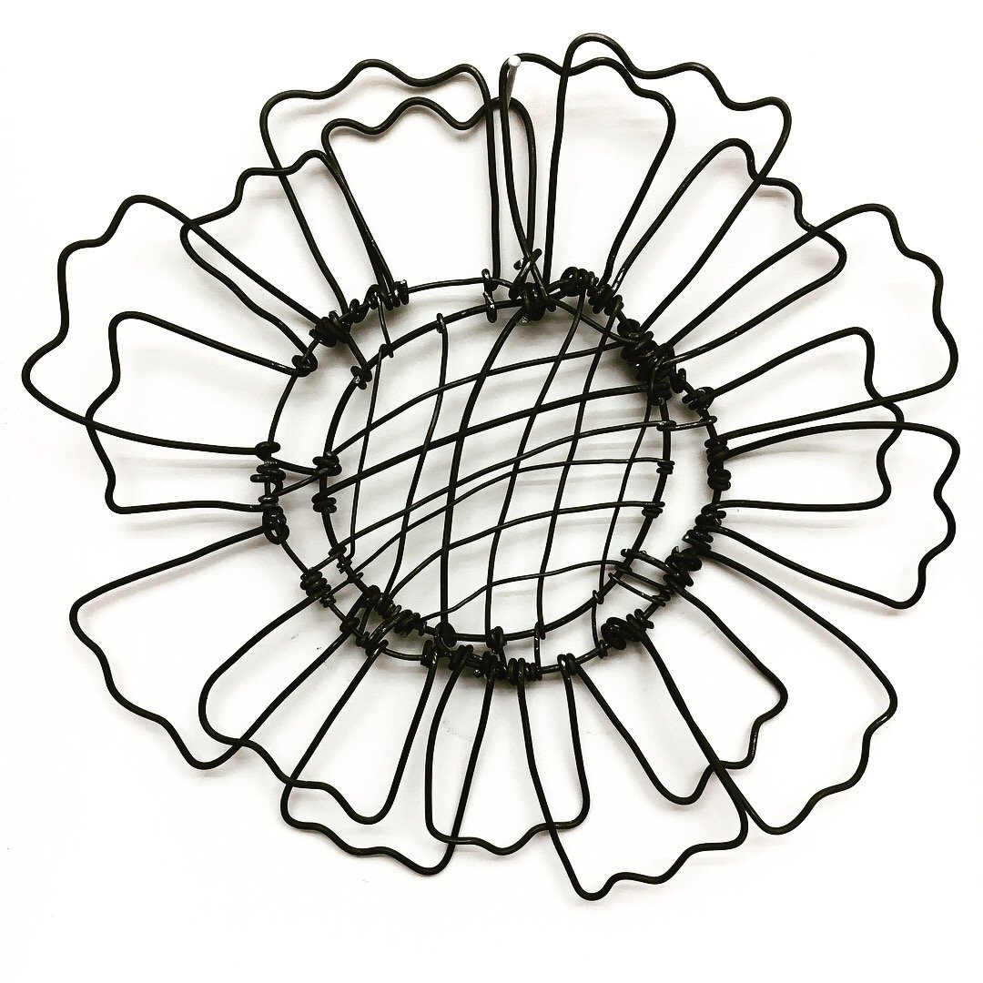 Wire Bloomer 2 by Barbara Gilhooly (Metal Wall Sculpture