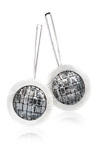 Mod Weave Earrings by Linda Bernasconi (Silver Earrings ...