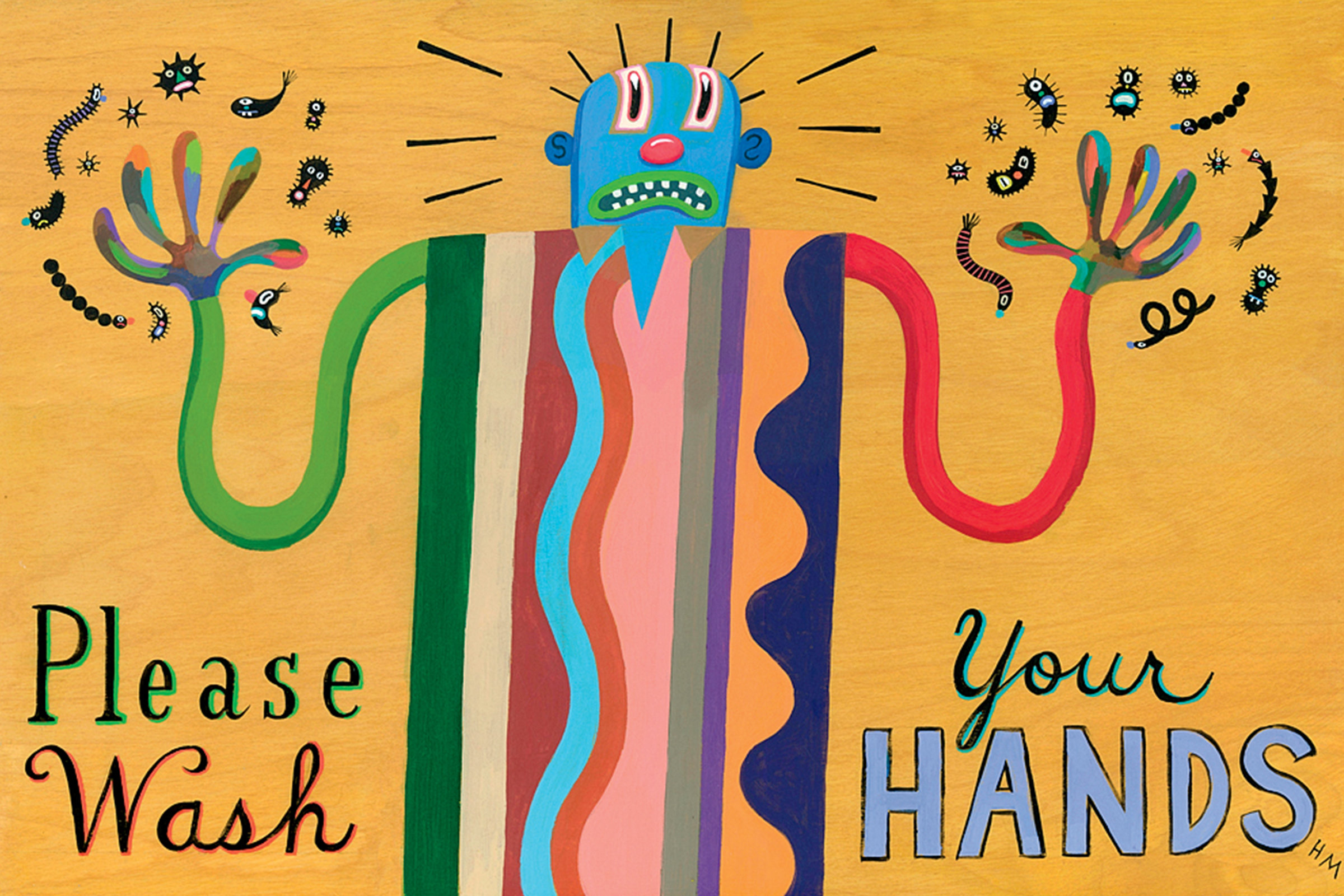 Please Wash Your Hands Iii By Hal Mayforth Giclee Print