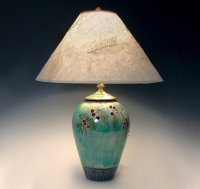 Small Celadon Lamp with Red Berries by Suzanne Crane ...