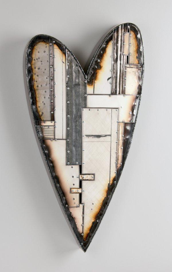 Metal Hearts Wall Sculpture