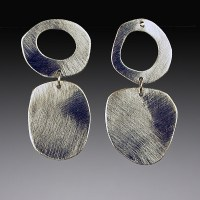 Mod Silver Earrings by Beth Novak (Silver Earrings