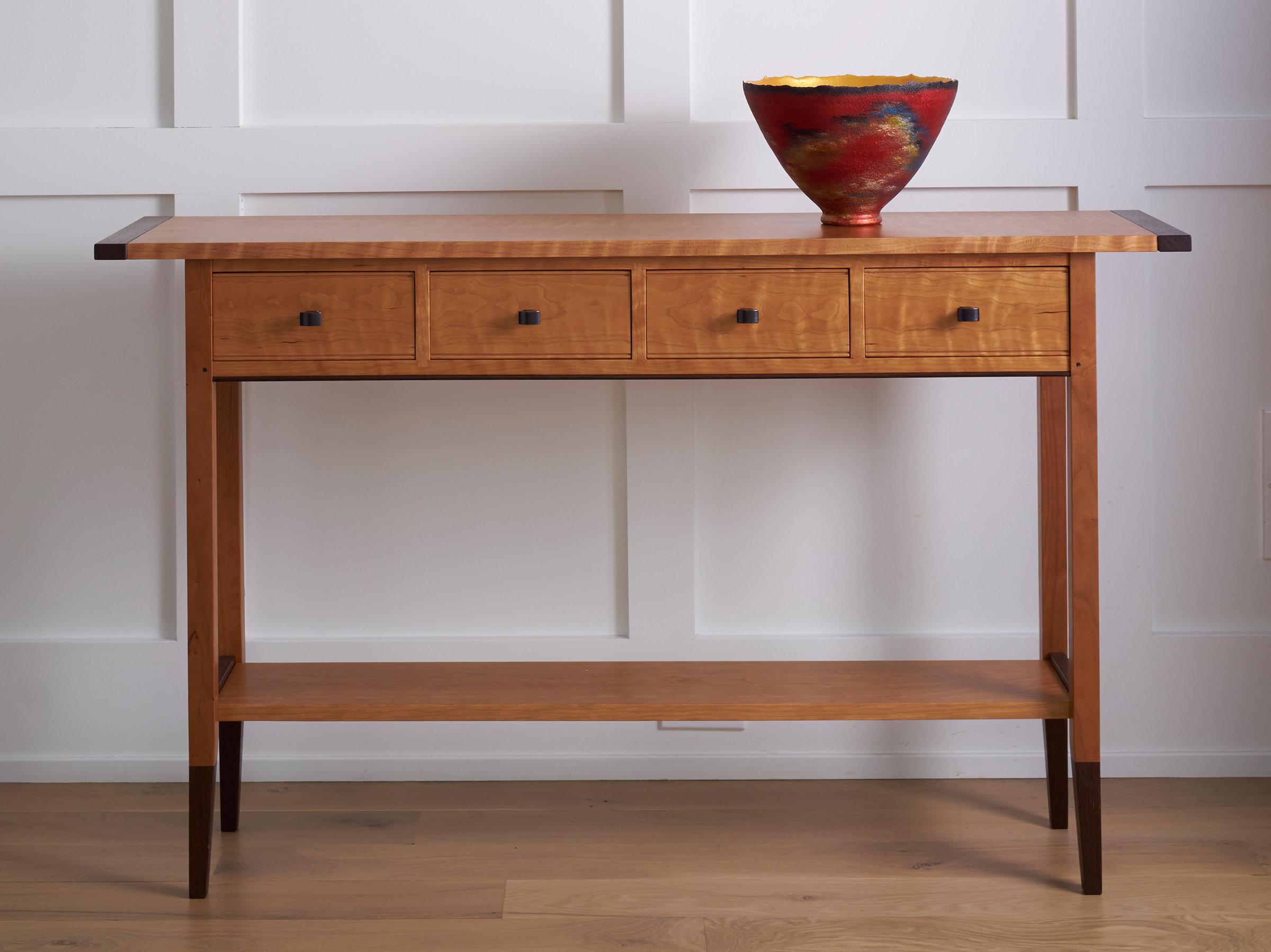 solid cherry sofa table u love thousand oaks ca by tom dumke wood console
