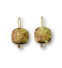 Raw Diamond Earrings by Susan Ronan (Gold, Steel & Stone ...