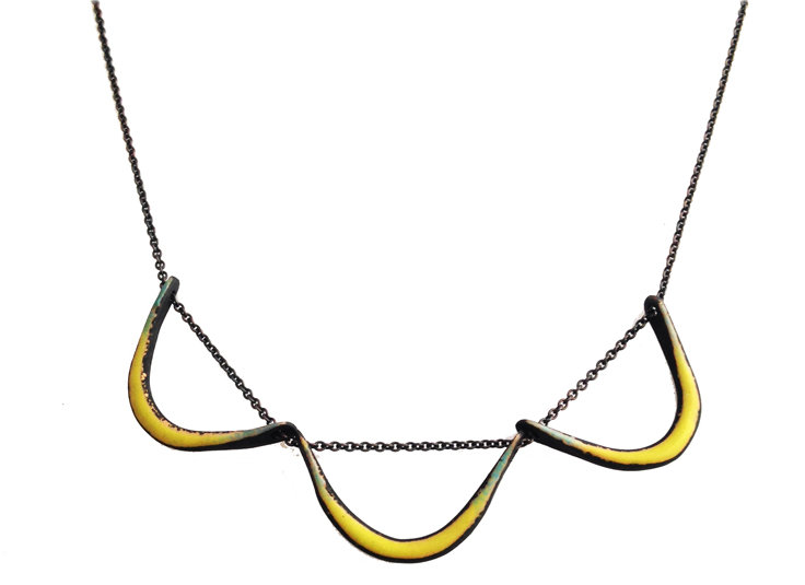 Boomerang Necklace in Chartreuse by Jenny Windler