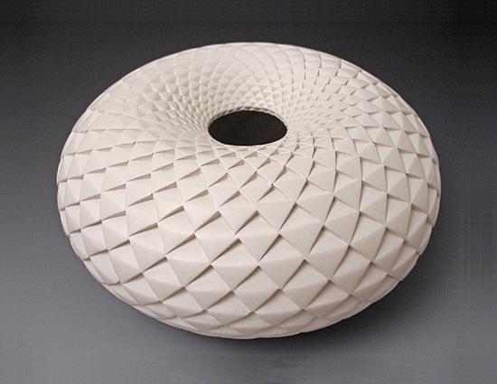 Pinecone Donut Vase By Michael Wisner Ceramic Vase Artful Home