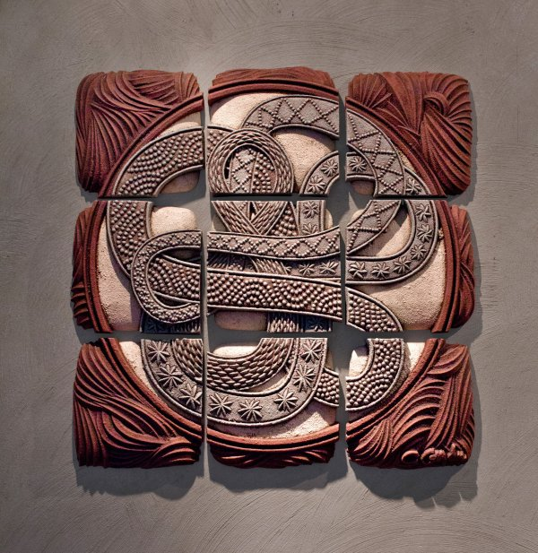 Infinity Squared Christopher Gryder Ceramic Wall