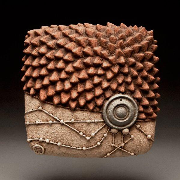 Edge Burst Christopher Gryder Ceramic Wall Sculpture