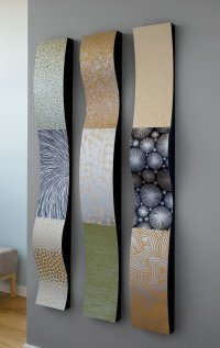 Stainless Steel Wall Ribbons by Linda Leviton (Metal Wall ...