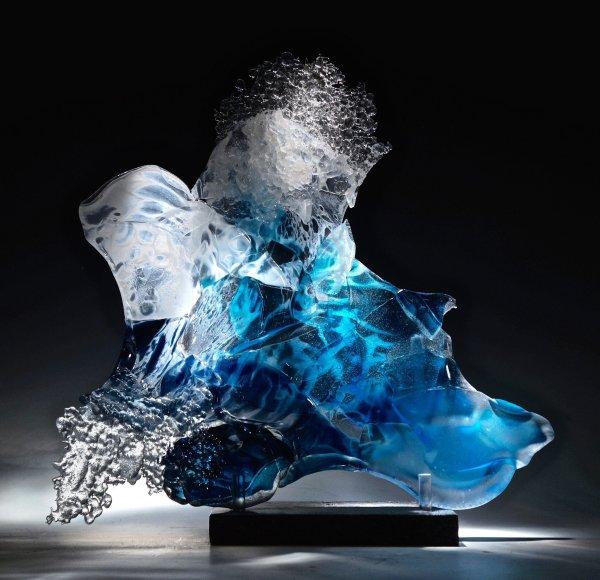 Ricochet Caleb Nichols Art Glass Sculpture Artful Home