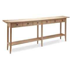Long Slim Sofa Table Queen Sleeper With Chaise Lounge By Tom Dumke Wood Console Artful