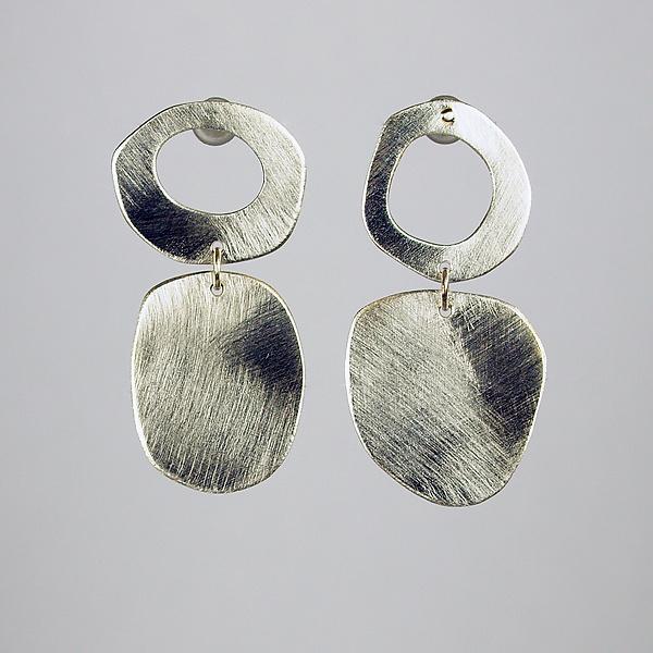 Mod Silver Earrings by Beth Novak (Silver Earrings