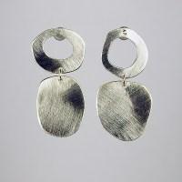 Mod Silver Earrings by Beth Novak (Silver Earrings ...