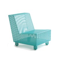 Chair No. 35 in Turquoise by Damian Velasquez (Metal Chair ...