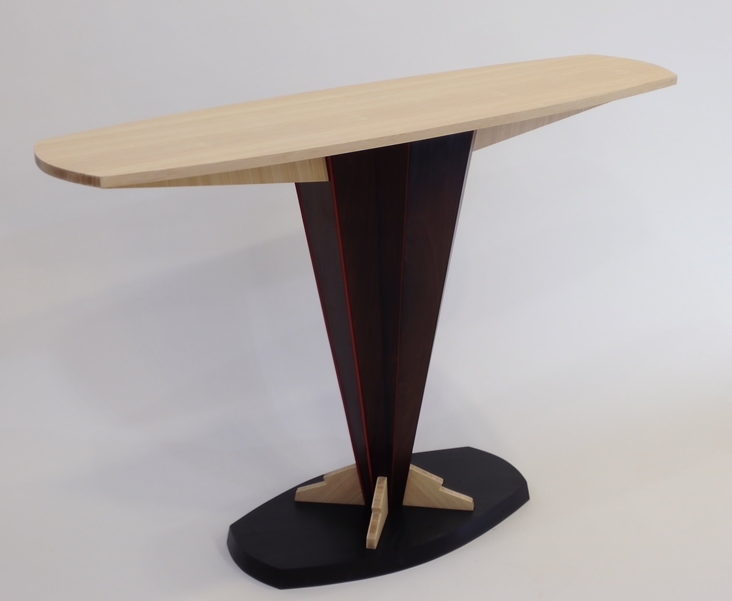 legare bamboo sofa table room and board york sleeper console by erik wolken wood