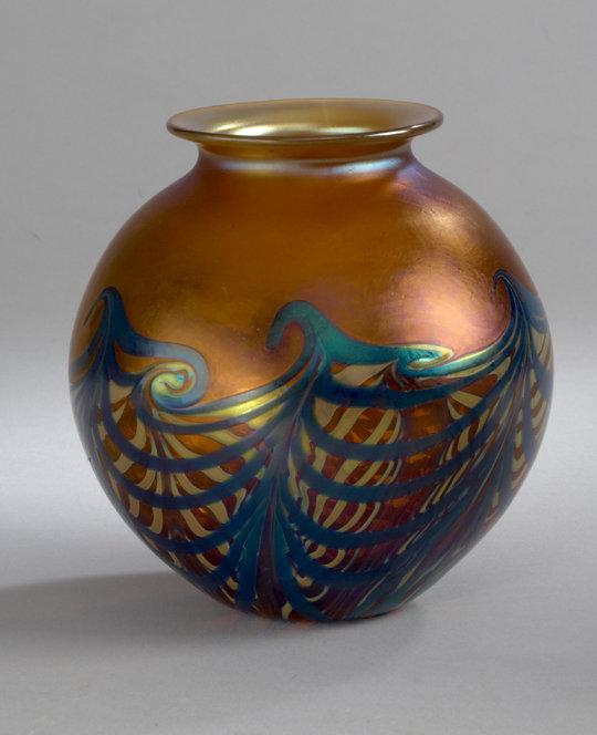 Amber Wave Vase By Carl Radke Art Glass Vase Artful Home