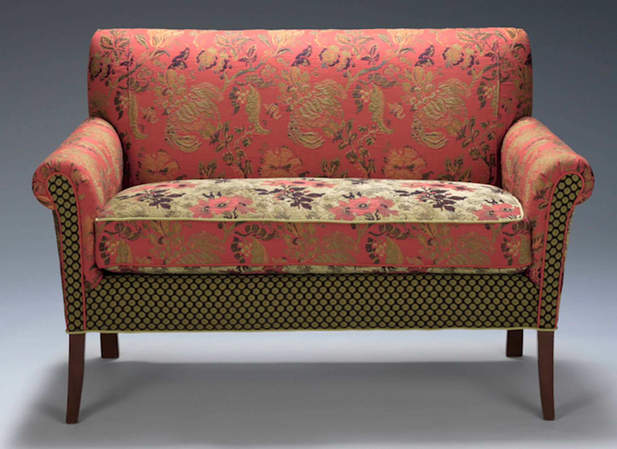 sofa upholstery fabric ideas natalie salon settee in melody rustic by mary lynn o 39shea