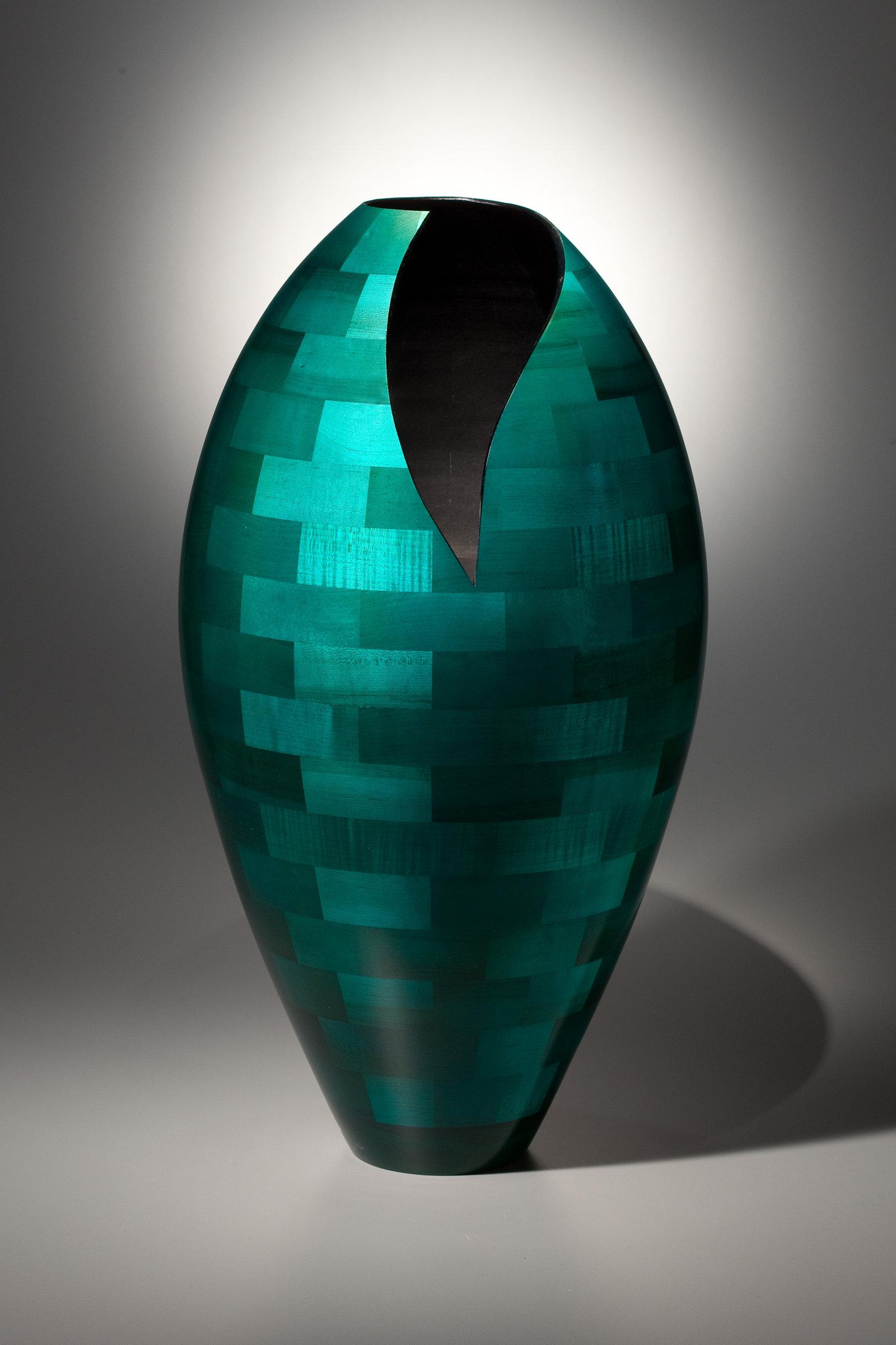 Floor Vase with Deep Vee by Joel Hunnicutt Wood Sculpture