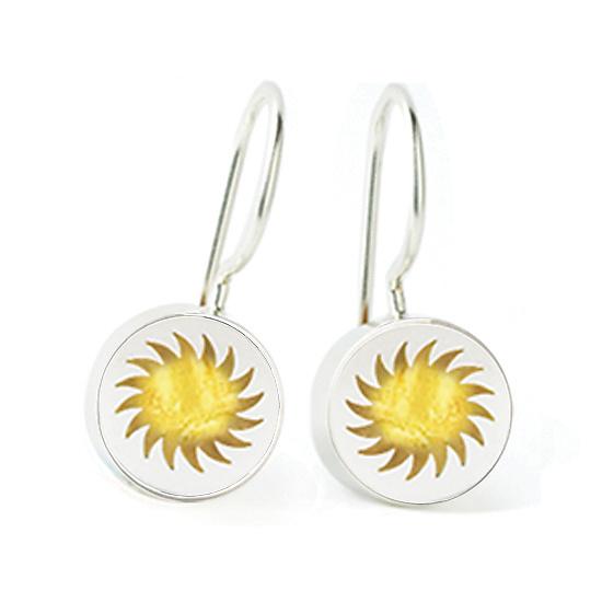 Fireball Earrings by Victoria Varga (Silver & Resin