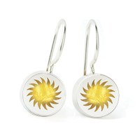 Fireball Earrings by Victoria Varga (Silver & Resin