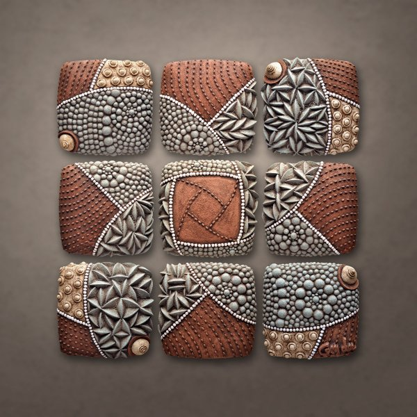 Pinwheel Pattern Christopher Gryder Ceramic Wall Art