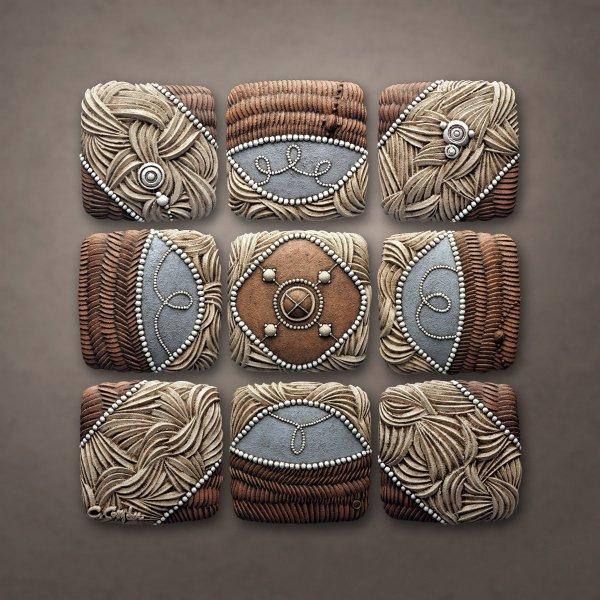 Mountain Pattern Christopher Gryder Ceramic Wall Art