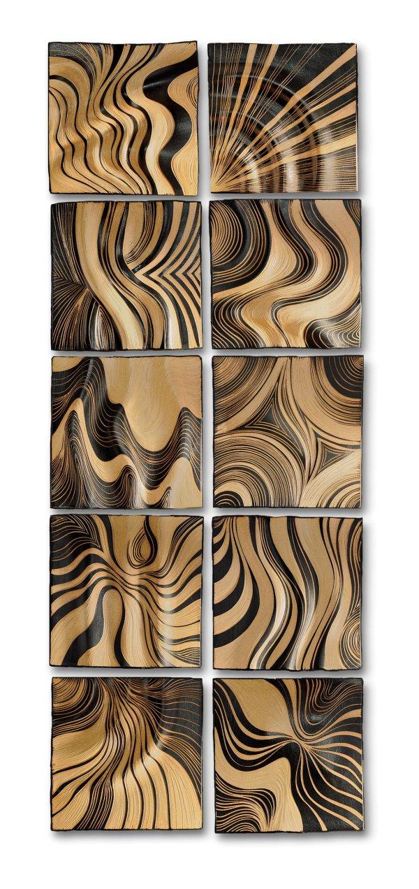 Honey Ripple Tiles