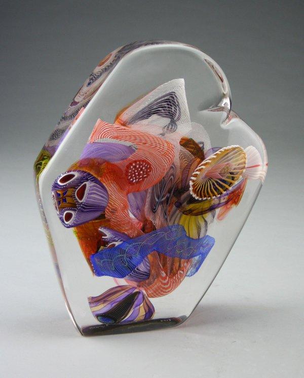 Clear Portal Ii Wes Hunting Art Glass Sculpture
