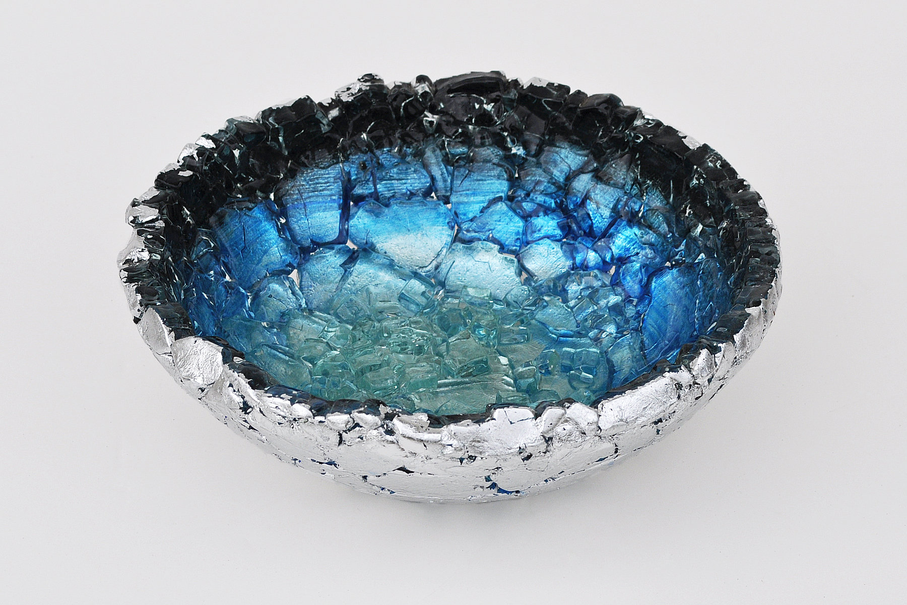 Atlantic Rim by Mira Woodworth Art Glass Bowl  Artful Home