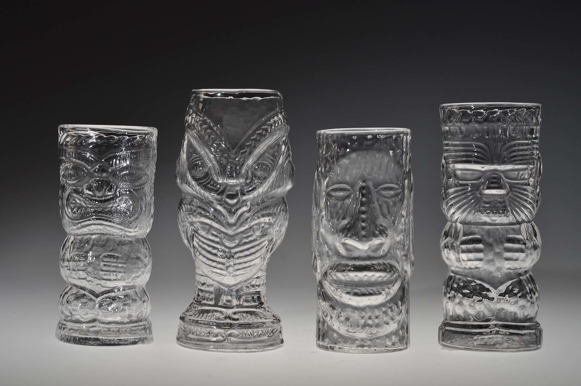 Glass Tiki Mugs by Andrew Iannazzi Art Glass Drinkware