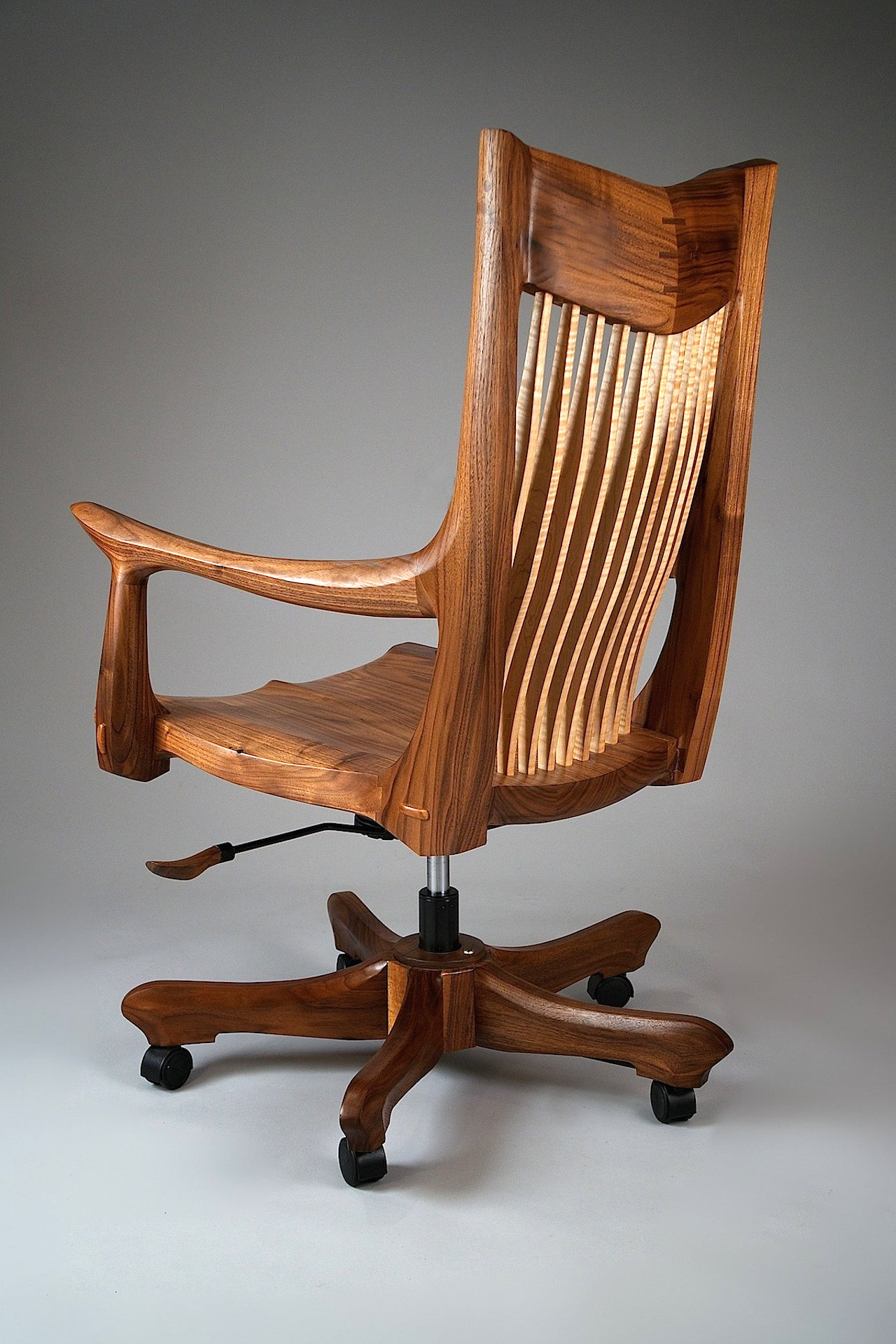 Franklin Swivel Desk Chair by Richard Laufer Wood Chair