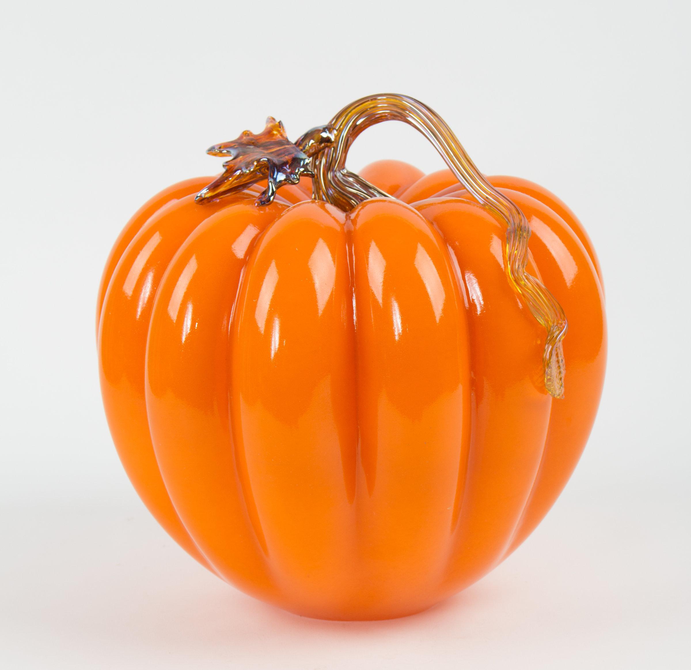 Large Orange Pumpkin By Treg Silkwood Art Glass Sculpture Artful Home