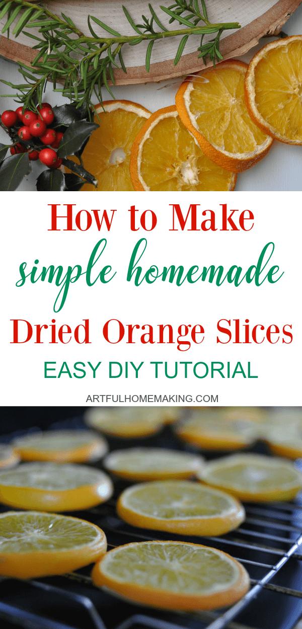 Dried Orange Slices Easy DIY Tutorial