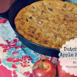 Dutch Baby Apple Pancake Recipe {Gluten Free}
