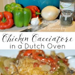 Chicken Cacciatore in a Dutch Oven