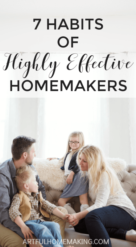 essential homemaking habits