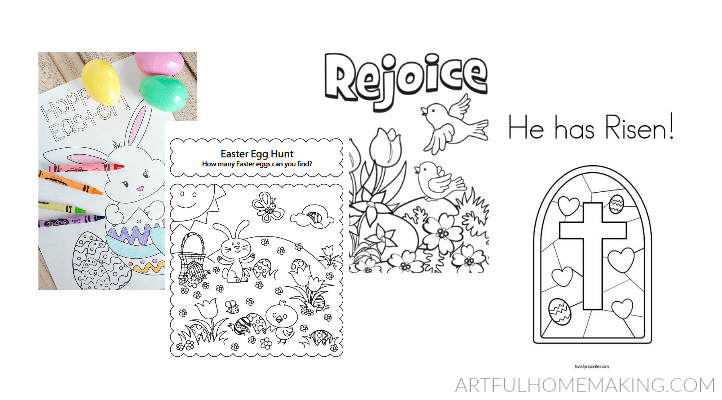 Free Easter Coloring Pages For Kids Artful Homemaking