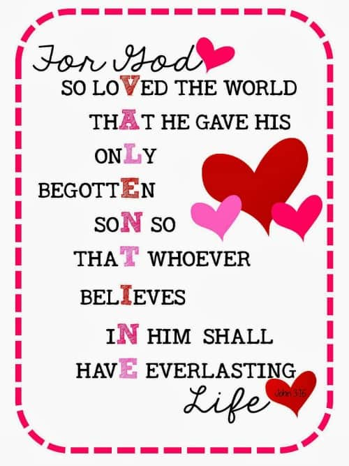 valentine's day bible verses