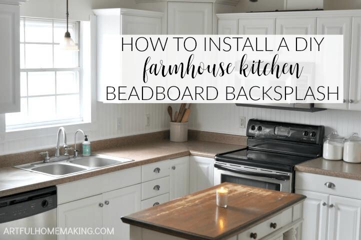 kitchen backsplash trim ideas wooden island how to install a beadboard - artful ...