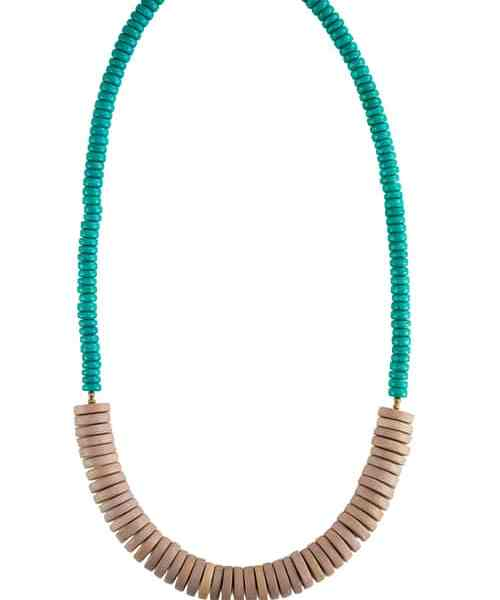 Turquoise Natural Wood Necklace